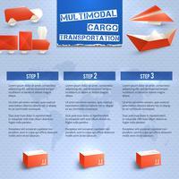 Origami logistieke Infographics vector