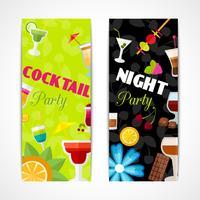 Cocktails banner verticaal vector