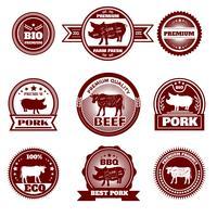 Eco boerderij slagerij emblemen