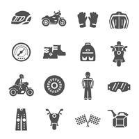 ruiter pictogrammen instellen vector