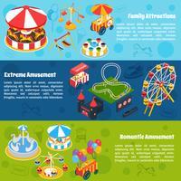 Amusement Isometrische Banners vector