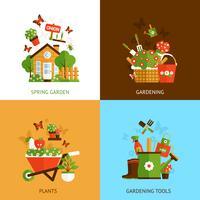 Tuinieren ontwerpconcept