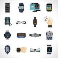 Wearable technologie pictogrammen vector