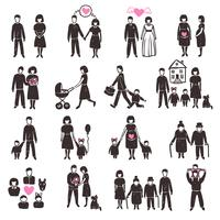 Familie Icon Set vector