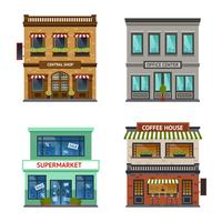 Vintage winkel winkel kantoor set vector