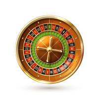 Roulette wiel geïsoleerd vector