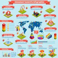 Amusement Isometrische Infographics vector