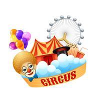 Kleurrijk circusconcept vector