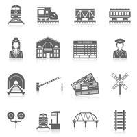 Spoorlijn Icon Set vector