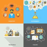 Wetenschap en onderzoek plat