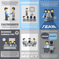 vergadering poster set vector