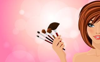 Make-up achtergrond vector