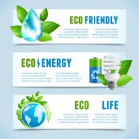 Ecologie horizontale banners vector