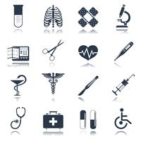 Medische pictogrammen instellen vector