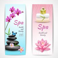 Spa verticale banners vector