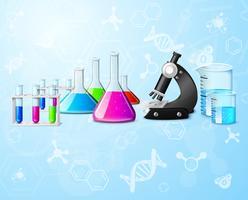 Wetenschappelijke laboratoriumachtergrond vector