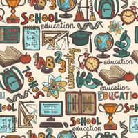 Schoolonderwijs naadloze patroon vector