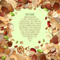 Decoratief kader van noten