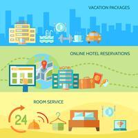 Hotelservice banners instellen vector