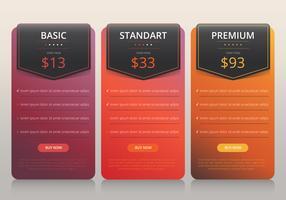 Pricelist collectie zakelijke sjabloon vector