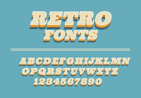 Retro lettertypen op een blauwe achtergrond vector