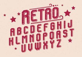 Retro alfabet vector