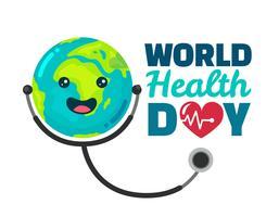 Wereldgezondheidsdag Ontwerp Vector