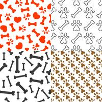 hondenliefhebber naadloze patroon thema voor gebruik als achtergrond of behang vector