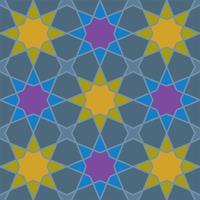 geometrische naadloze patroon Islamitische stijl vector