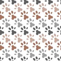 naadloze patroon van voetafdrukken poot voor inpakpapier of gebruik als achtergrond vector