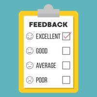 feedback vragenlijstsjabloon vector