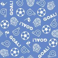 Het naadloze thema van het patroonvoetbal, voor gebruik als achtergrond vector