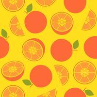 oranje retro-stijl, naadloos patroon voor behang of inpakpapier vector