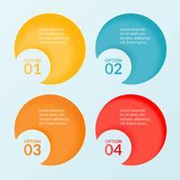 Infographicmalplaatje van vier stappen, opties of werkschemadiagram