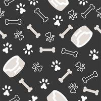 hond naadloze patroon thema, bot, poot voetafdruk voor gebruik als achtergrond of achtergrond vector