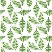 Palmbladeren naadloze patroon voor behang of inpakpapier vector