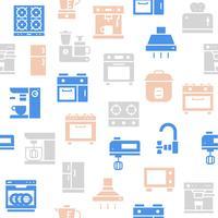 Keukenapparatuur naadloos patroon voor behang of inpakpapier