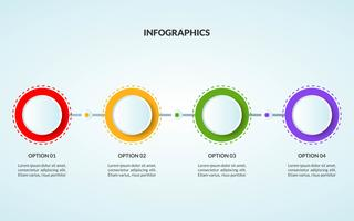 Infographicmalplaatje van stap of werkschemadiagram geschikt voor gebruik in tijdlijn