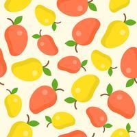 mango naadloze patroon voor behang of inpakpapier vector