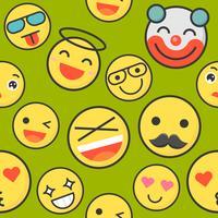 Emoticon naadloos patroon geschikt voor gebruik als achtergrond of inpakpapier geschenk vector