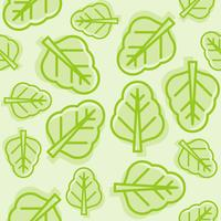 plantaardig naadloos patroon, Chinees boerenkool of spinazieoverzicht vector
