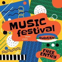 Abstracte muziek poster ontwerp vector