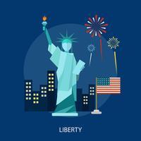 Liberty Conceptual illustratieontwerp vector