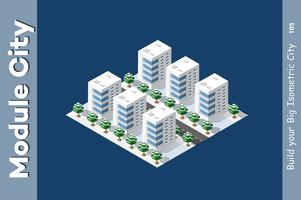 Isometrische 3D-landschap bovenaan vector