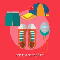 Sportaccessoires Conceptuele afbeelding ontwerp vector