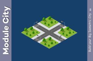 Stadsstraten parktuin vector