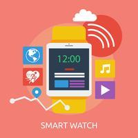 Smart Watch Conceptuele afbeelding ontwerp vector