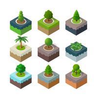 Natuurpark stedelijk landschap vector