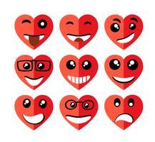 Set van valentines harten