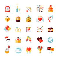 Bruiloft Icons Set